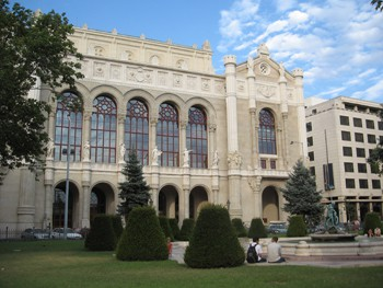 front view of the building