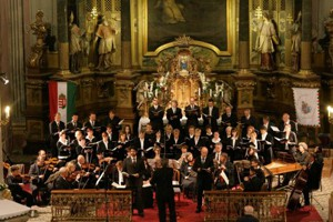 an orchestra giving concert in St. Michael Church