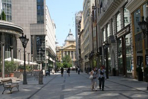 Fashion Street in downtown Budapest