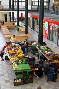 a couple of greengrocers photograhped from the gallery