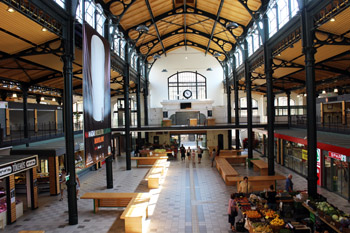 The Klauzal tér Markets' spacious iron structured interior