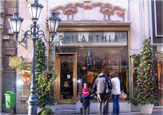 entranc eof Philantia flower shop, Budapest