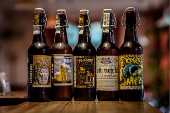 5 Hungarian craft beers in 0,3 l brown bottles