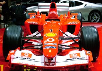 F1 Ferrari race car