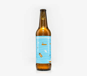Balatonvilagosi craft bee rin amber bottle with bright blue label