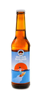 Beer in 0,33L bottle with a label Indian Summer written on it