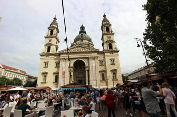 lots of people on the festival in 2016 at the Basilica