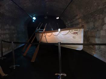 a white wodoen rescue boat (original size)