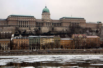 The Royal Palace in Buda & the icy Danube