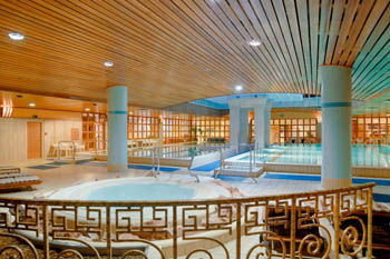 the realx pool in Aquincum Hotel